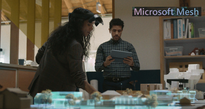 Microsoft Mesh para reuniones en realidad aumentada