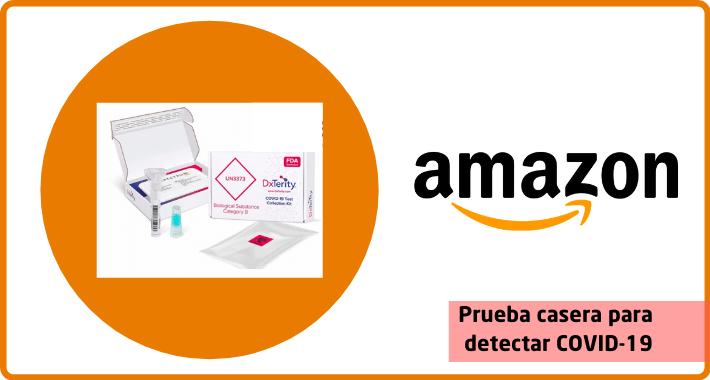 Amazon vende prueba casera para COVID-19