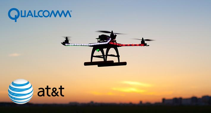 AT&T y Qualcomm probarán drones en red celular