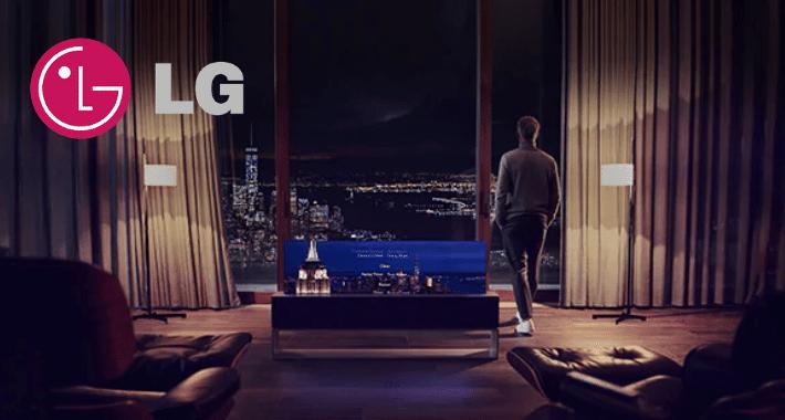 LG lanza el LG Signature Oled R, el primer televisor enrollable