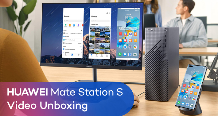 Mate Station S de Huawei Unboxing