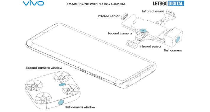 Un dron que sale de tu celular, una creación de Vivo