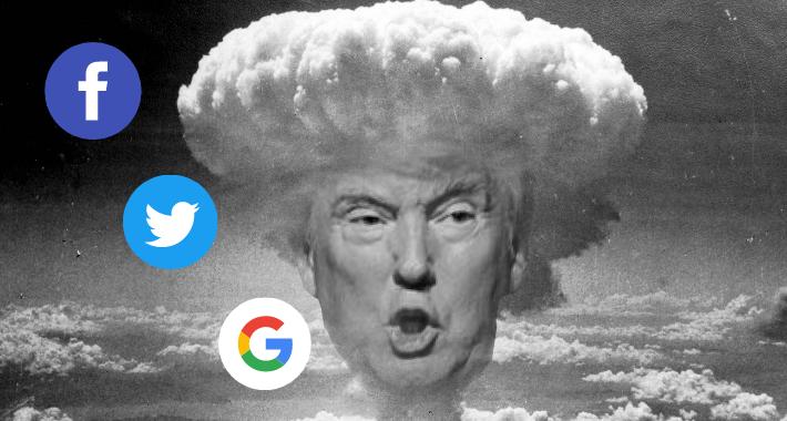 Donald Trump demanda a Facebook, Twitter y Google por bloquearlo