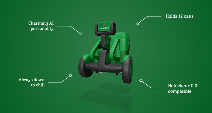 Cerveza móvil: Así se presenta el robot Heineken B.O.T