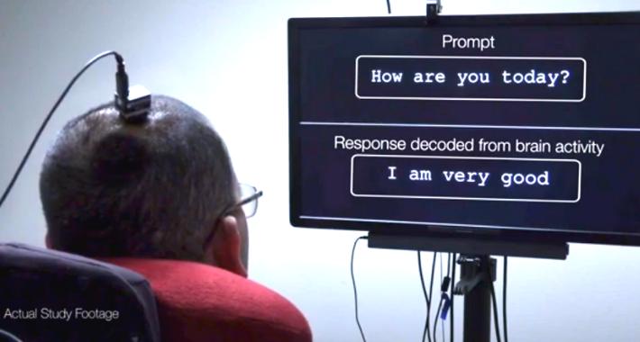 Un traductor de señales cerebrales permite a la gente con parálisis comunicarse