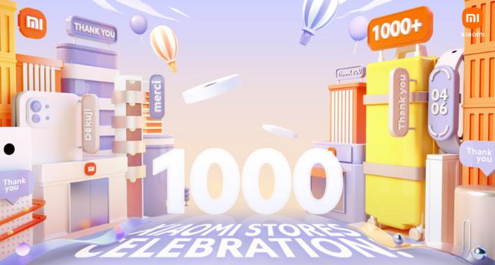 Xiaomi ya tiene 1000 Mi Stores en todo el mundo