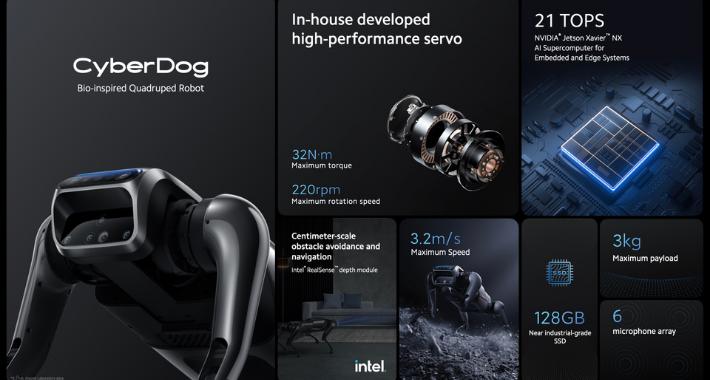 Xiaomi incursiona en la robótica con CyberDog, un robot cuadrúpedo